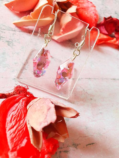 Perfect pink glitter dangles