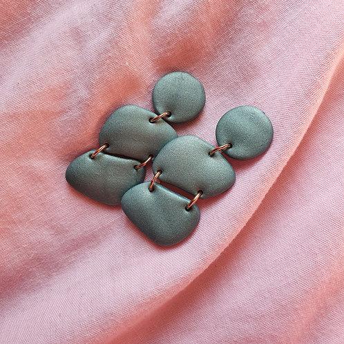 Teal cute stones dangles