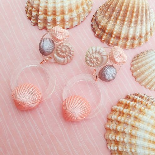 Pearly polymer clay and resin dangles - hypoallergenic