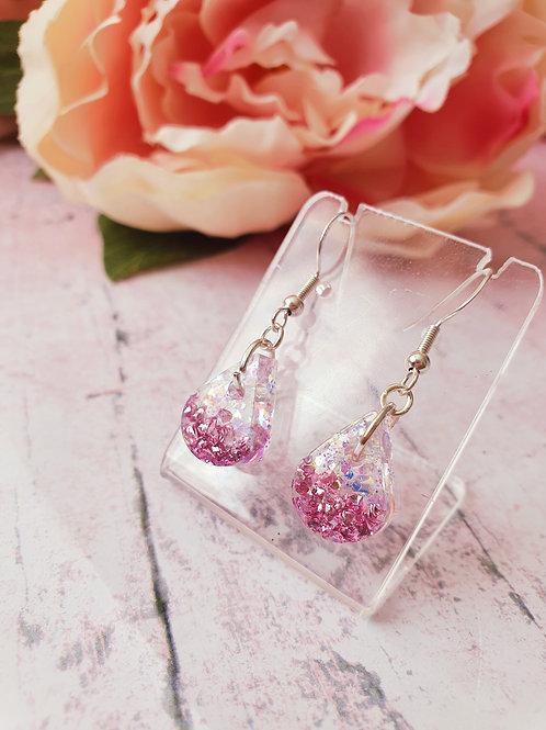 925 Sterling Silver Tiny Glitter Earrings