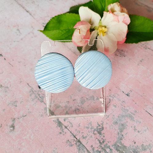Blue pearl effect earstuds