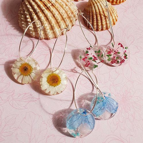 Hoop earrings - set of 3 pairs