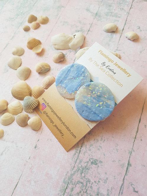 Opal Effect Seaside Statement Ear Studs