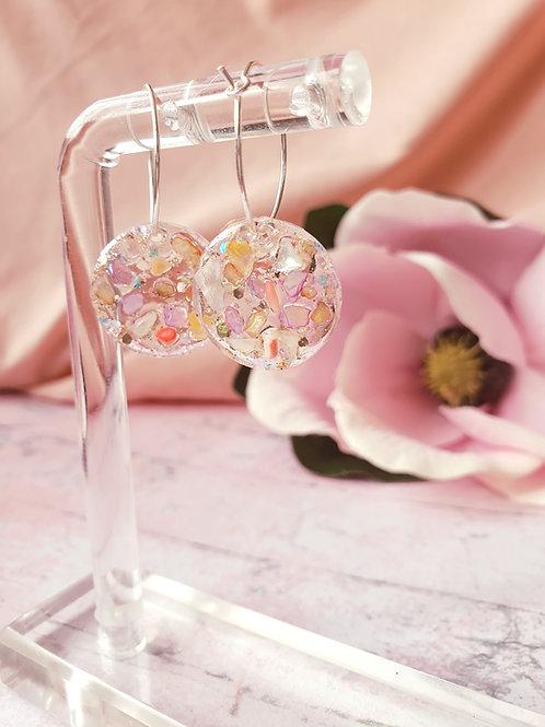 Little stones hoop earrings
