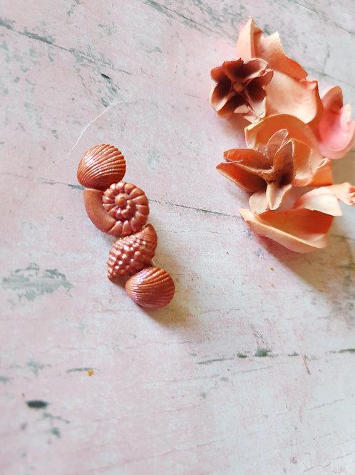 Bronze pearl effect hair clip