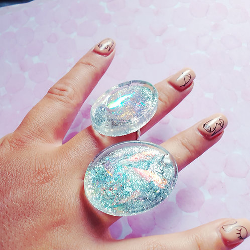 Holographic Resin Ring - 1 piece