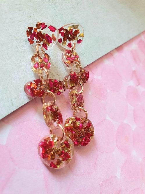 Sparkly gems dangle earrings