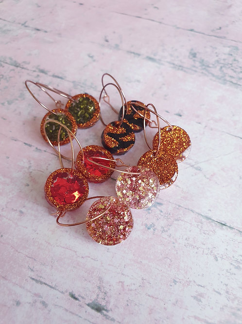 The Hoop Collection - resin earrings - choose yours