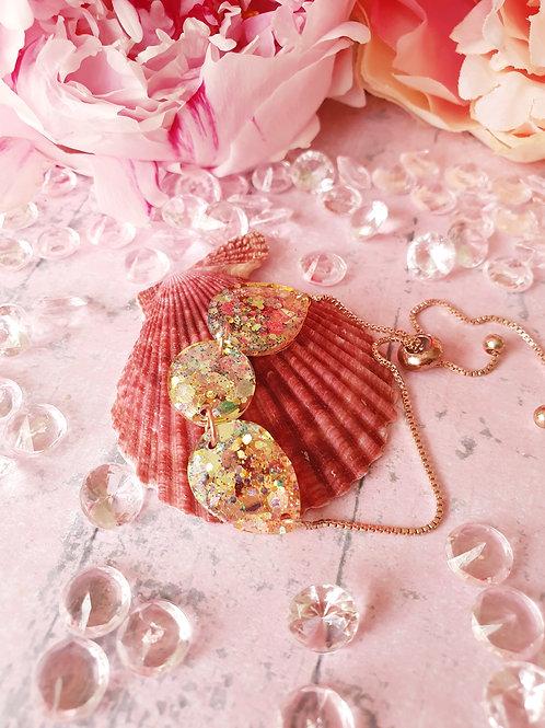 Glitter rose gold bracelet - adjustable