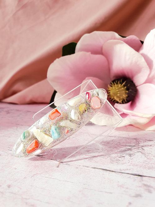 Handmade hair clip with little stones