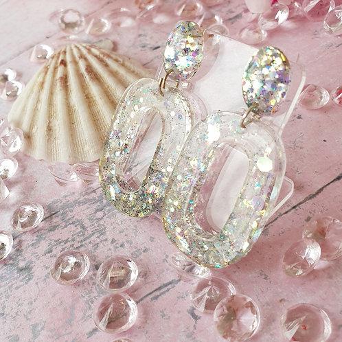 Super sparkly dangle earrings - hypoallergenic