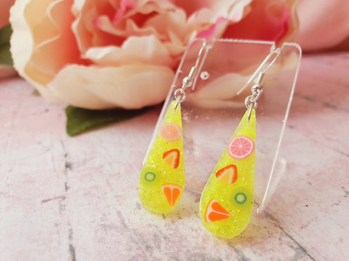 925 Sterling Silver Lemonade Earrings