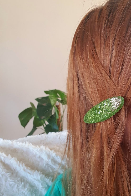 Flamingo Signature Collection Hair Clip in green