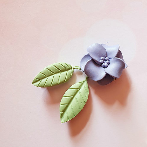 Flower and leaves set - 3 pieces set