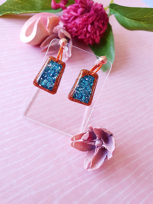 Bronze and Green dangles