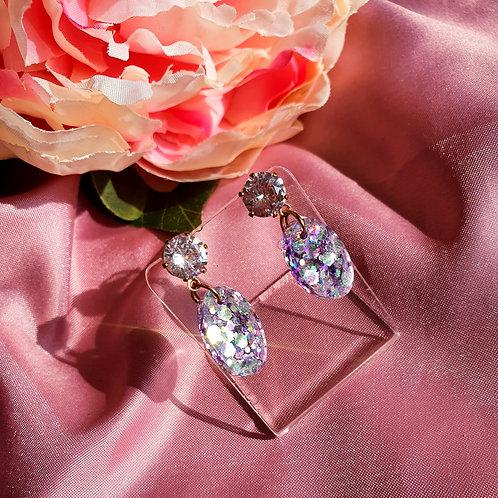Super sparkly pastel glitter earrings