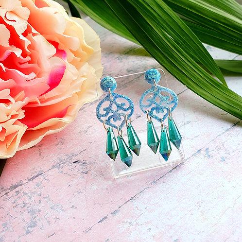 Signature Green Modern Boho earrings - hypoallergenic