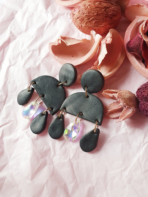 Georgia Dangles with crystals - hypoallergenic