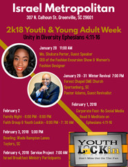 2k18 Youth & Young Adult Week: Greenville, South Carolina