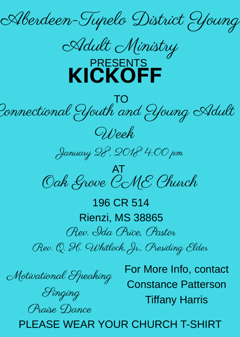 Kickoff to Connectional Youth and Young Adult Week: Rienzi, Mississippi