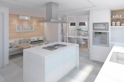cocina amplia con estilo y diseño