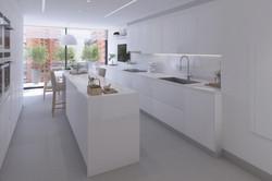 Cocina amplia y luminosa arquitectos