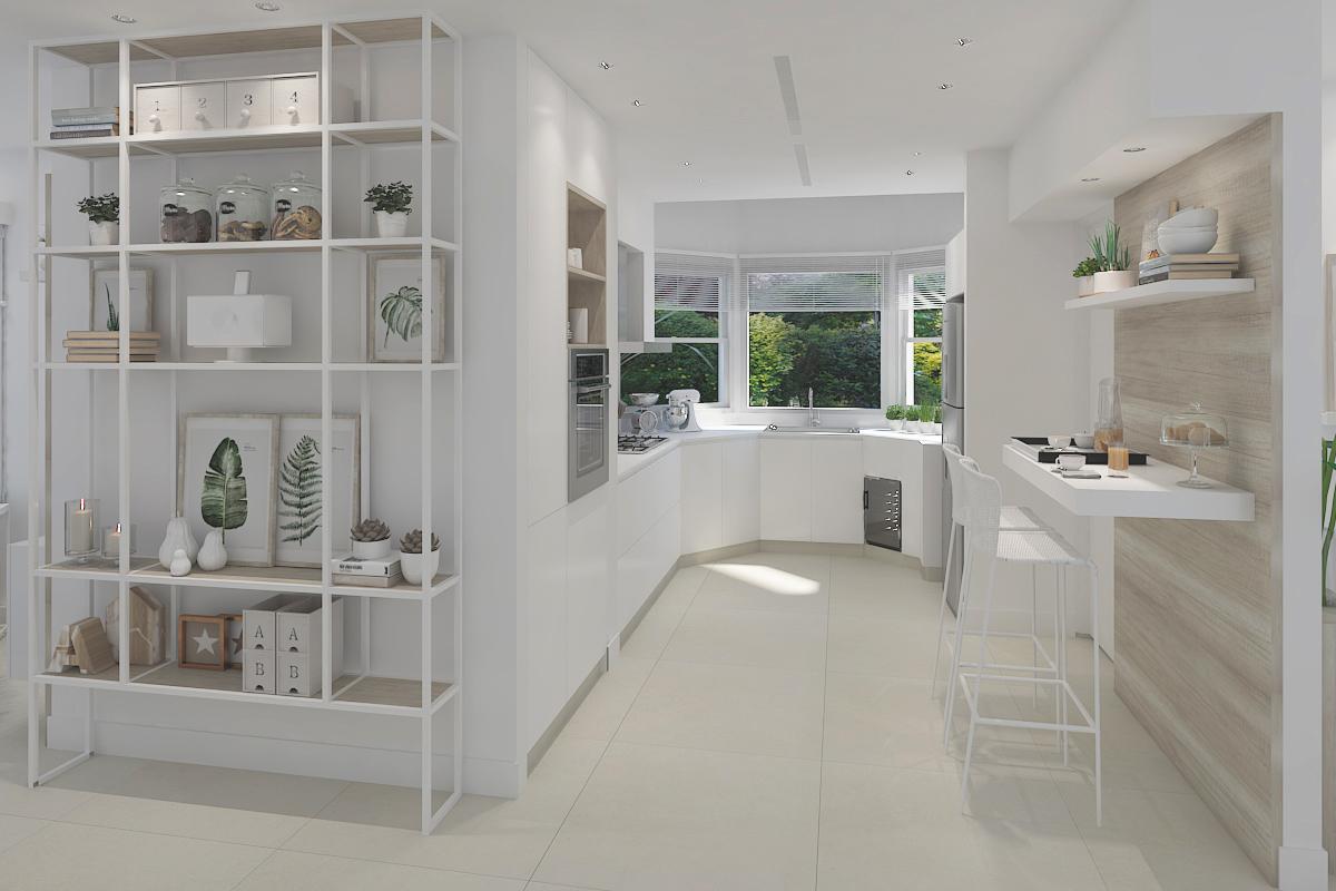 Cocina y comedor en proyecto diseño