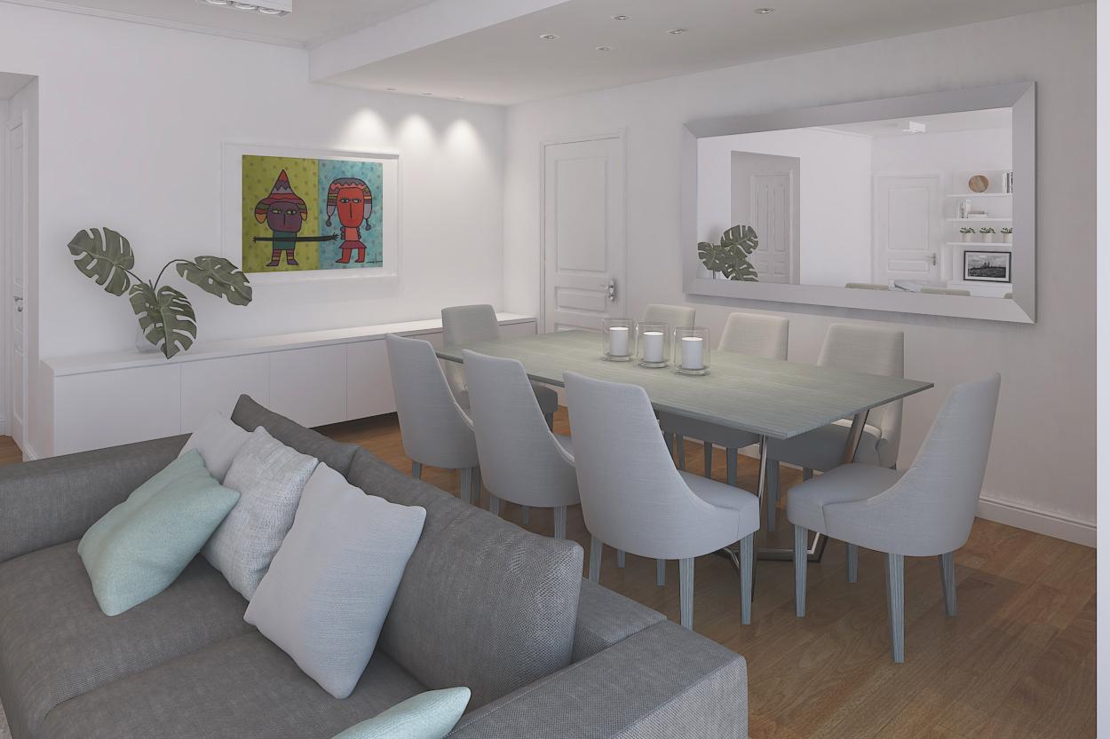 Mesa del comedor diseño interiores