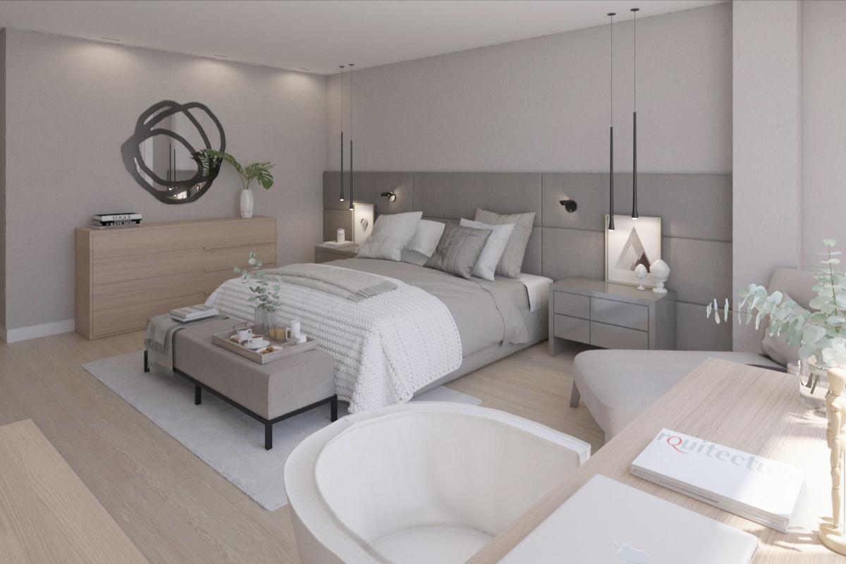 Lámparas colgantes espejo dormitorio