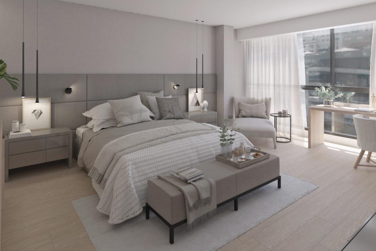 Pie de cama de diseño moderno