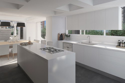 Cocina amplia con isla de diseño