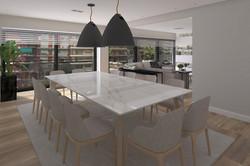 Living y mesa de mármol en Charcas