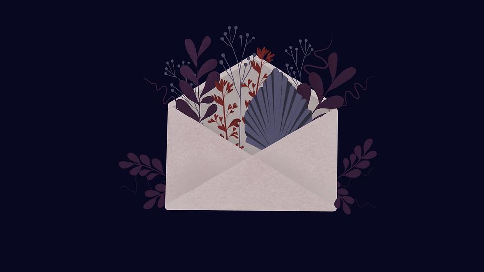 Personalised Note Card - Flower Design