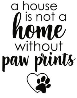 A house is not a home without pawprints