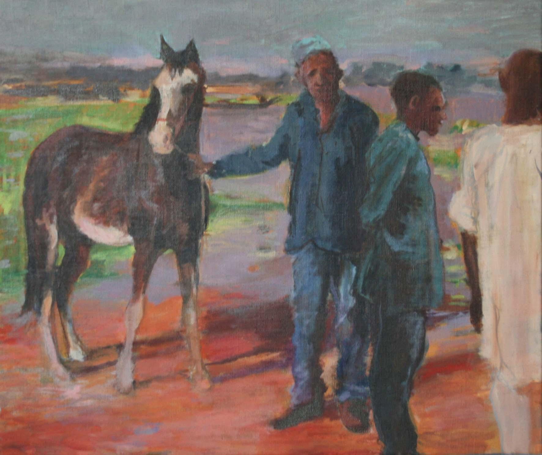 Présentation du cheval au bord du fleuve
