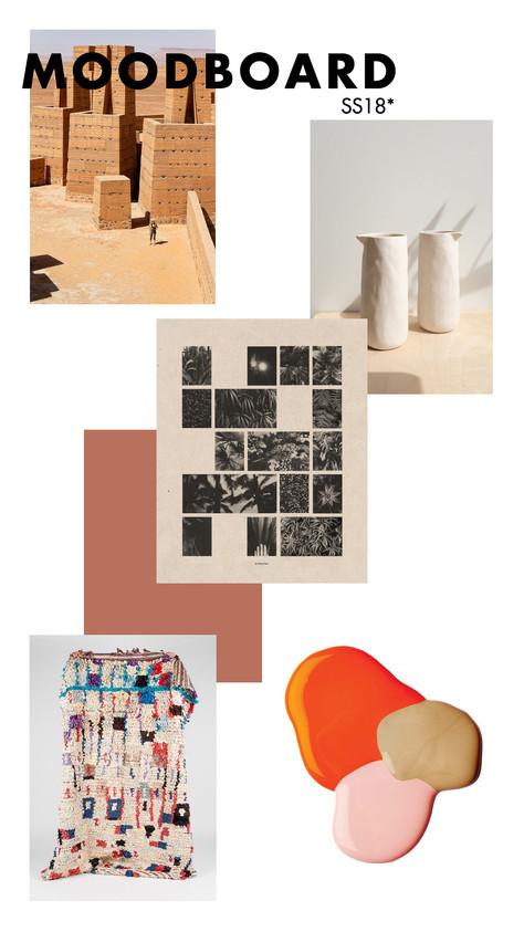 Moodboard SS18: Les formes et les matières