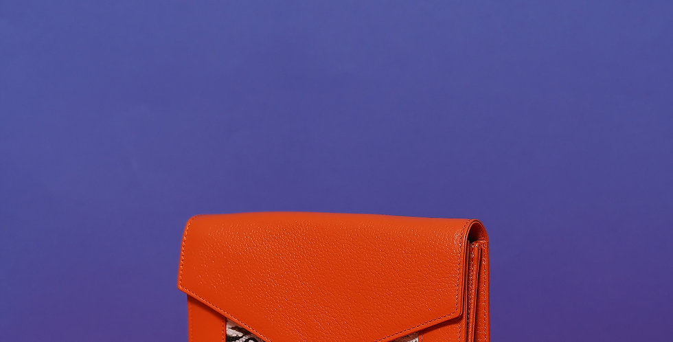 Porte Feuille Lalla Claudia Orange