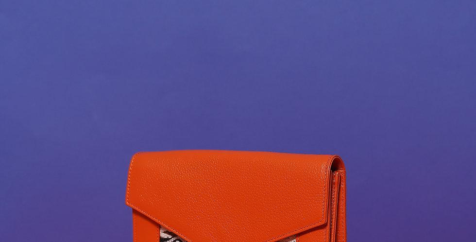 Porte Feuille Lalla Claudia Orange