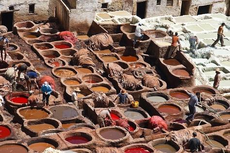 La tannerie, à le Maroc dans la peau