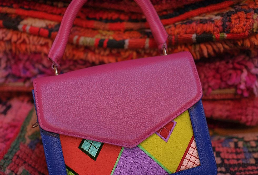 SOUK rose et bleu sac à main