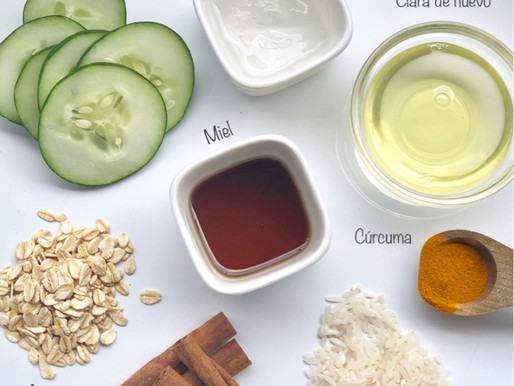 Que ingredientes naturales puedo o no utilizar para mis mascarillas caseras?
