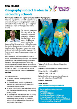 Secondary Geography Subject Leaders Conference_A5