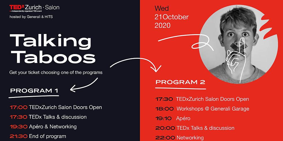 TEDxZurich Salon - Talking Taboos