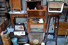 Antique radios an equipment record players