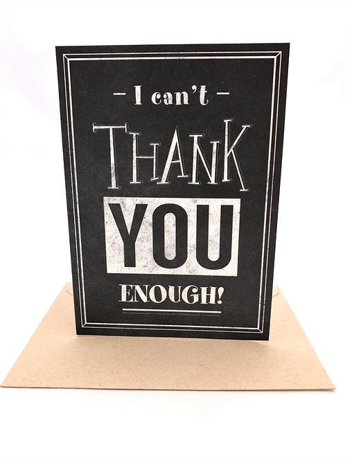 Retro Chalkboard Thank You Note Card