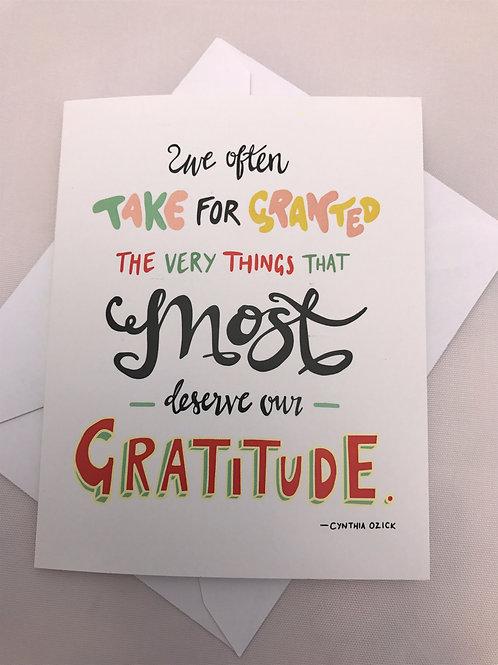 Most Deserve our Gratitude
