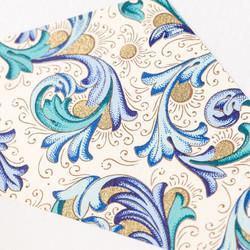 Blue Floretine closeup