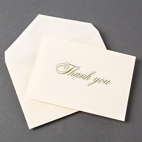Elegant Thank You by Crane & Co.