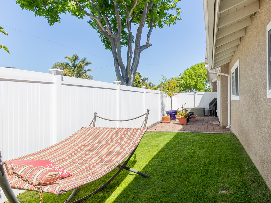 Side yard and patio