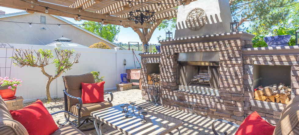 Backyard sitting area